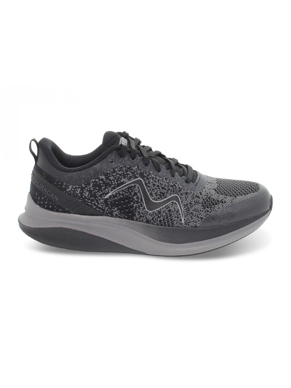 Sneakers MBT HURACAN 3000 LACE UP M in tessuto e ecopelle nero e grigio