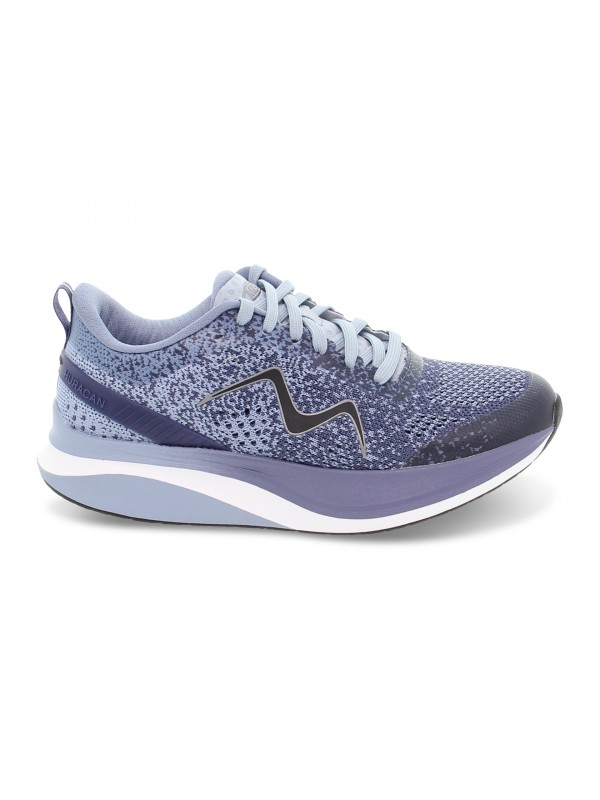 Sneakers MBT HURACAN 3000 LACE UP W in tessuto e ecopelle blu e grigio