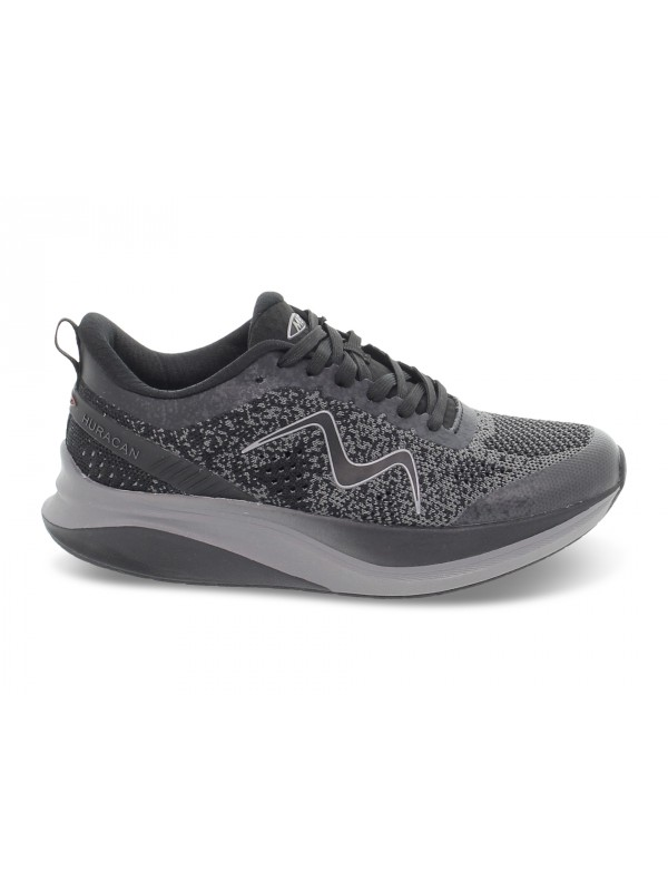 Sneakers MBT HURACAN 3000 LACE UP W in tessuto e ecopelle nero e grigio