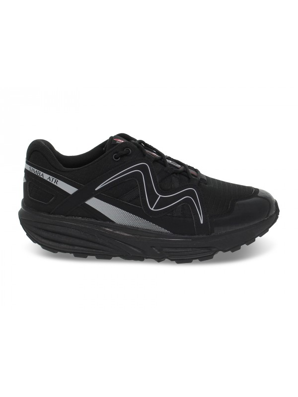 Sneakers MBT SIMBA ATR M in nylon e ecopelle nero e grigio