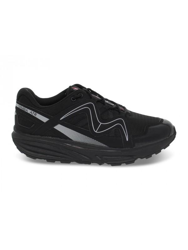 Sneakers MBT SIMBA ATR M in nylon e ecopelle nero e grigio