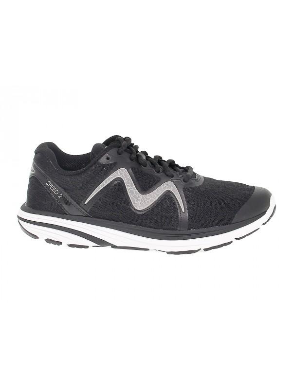 Sneakers MBT SPEED 2 W in tessuto e ecopelle nero e grigio