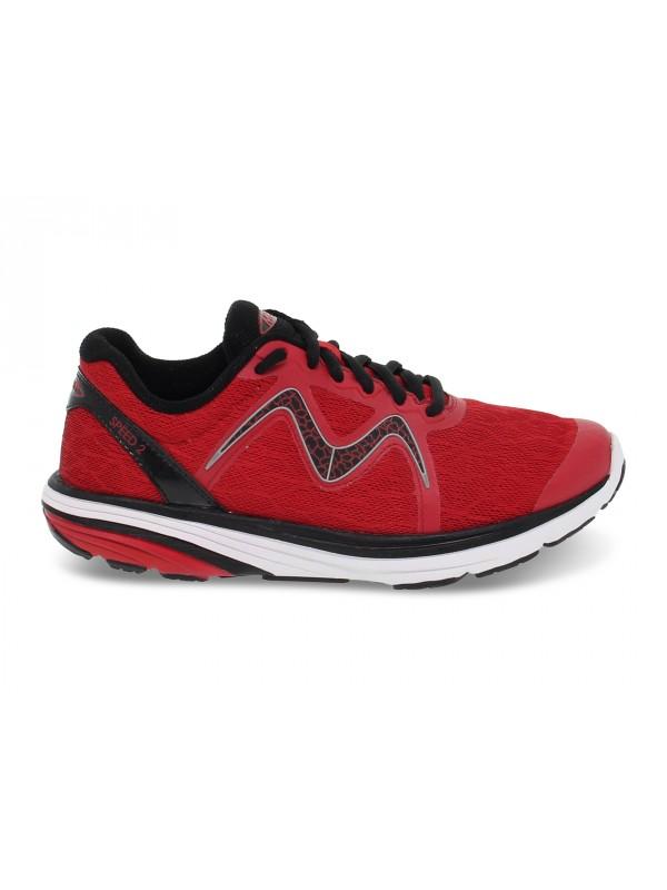 Sneakers MBT SPEED 2 W in tessuto e ecopelle rosso e grigio