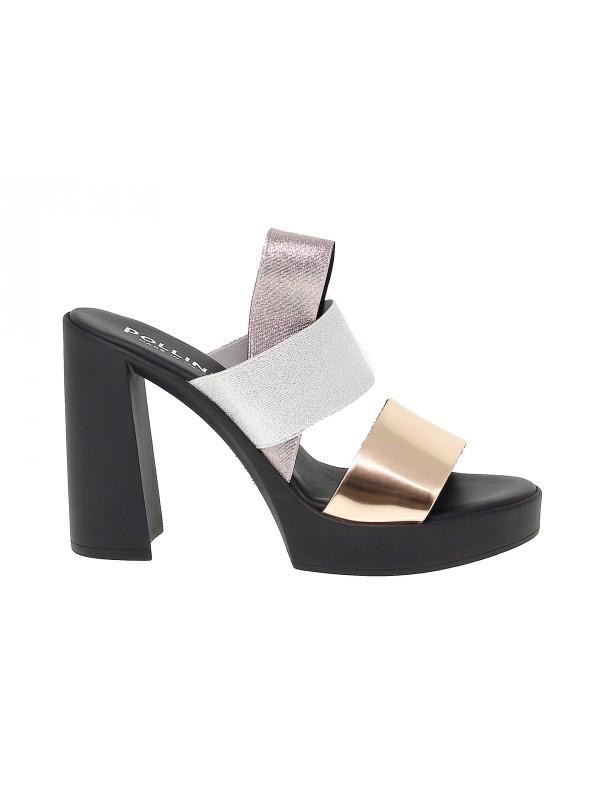 Sandalo con tacco Pollini