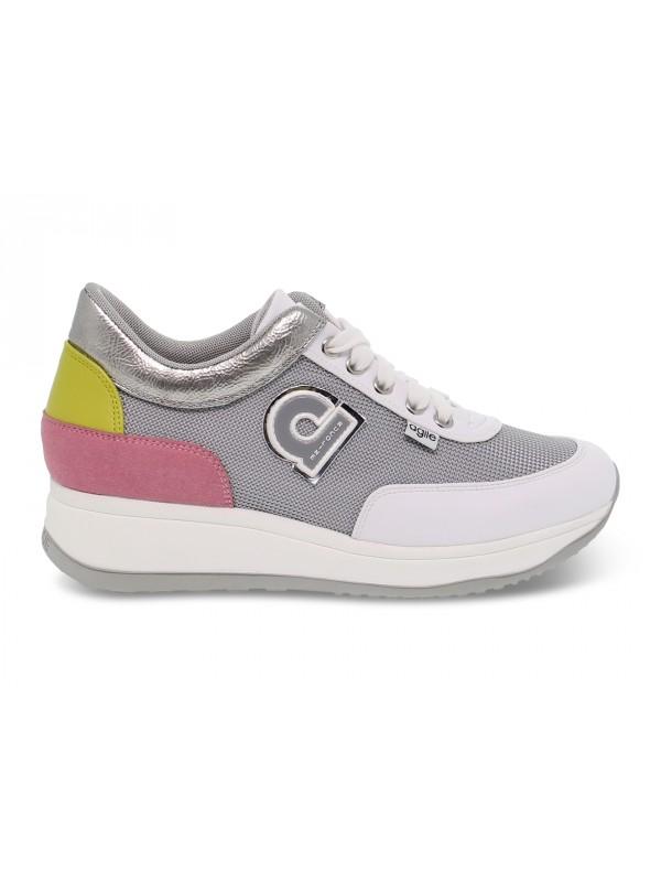 Sneakers Ruco Line AGILE AUDREY in pelle e tessuto multicolore e grigio
