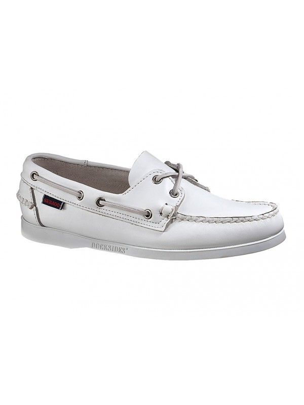 Stringata Sebago in pelle