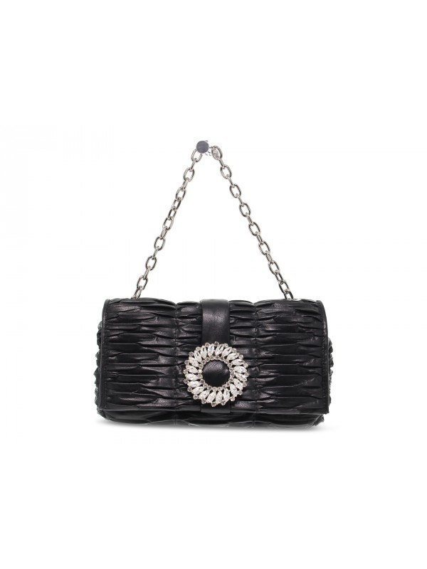 Borsa a mano Ermanno Scervino FLAP BAG IOLE in ecopelle nero