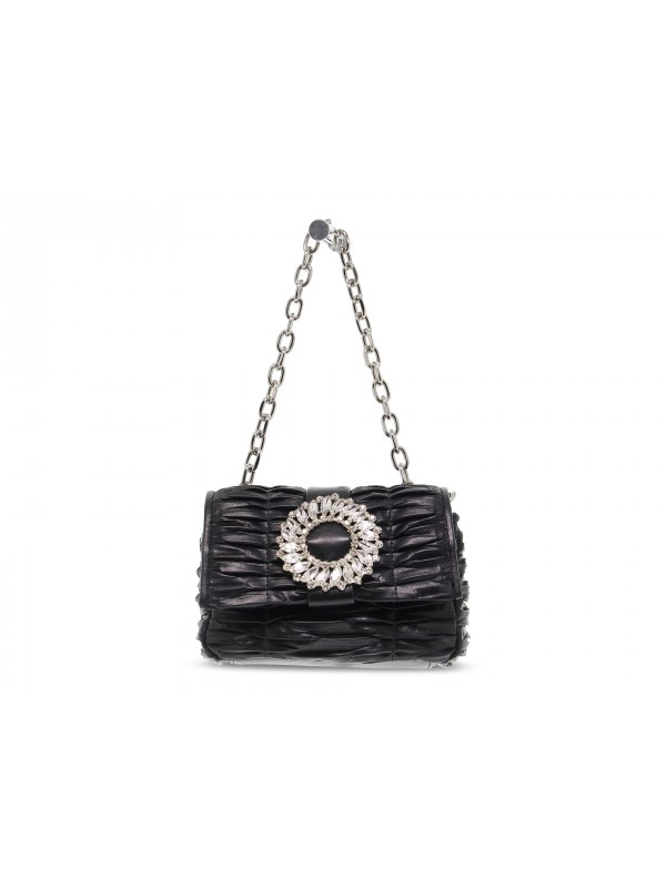 Borsa a mano Ermanno Scervino SMALL FLAP BAG IOLE in ecopelle nero