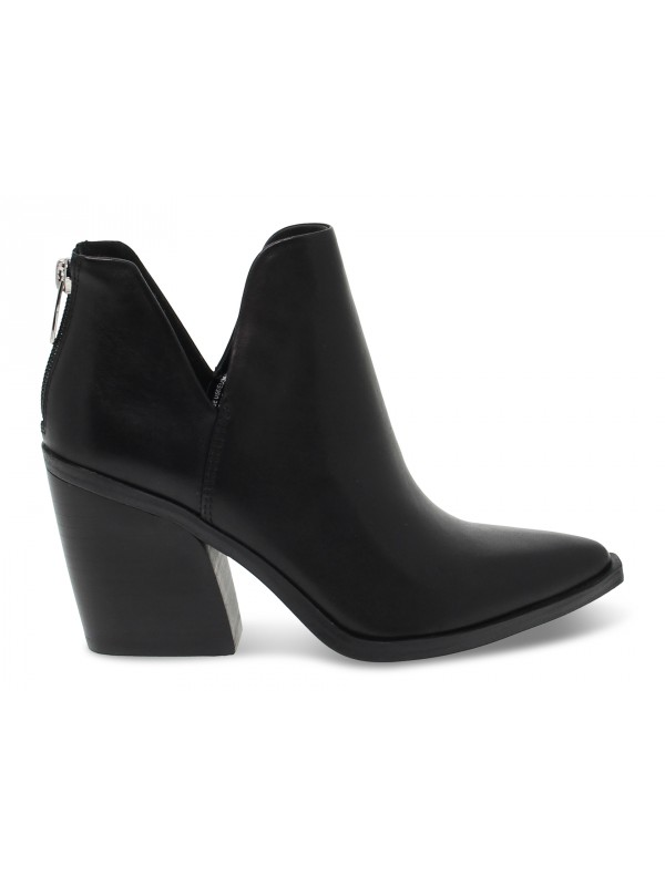 Tronchetto Steve Madden ALYSE LEATHER BLACK in pelle nero