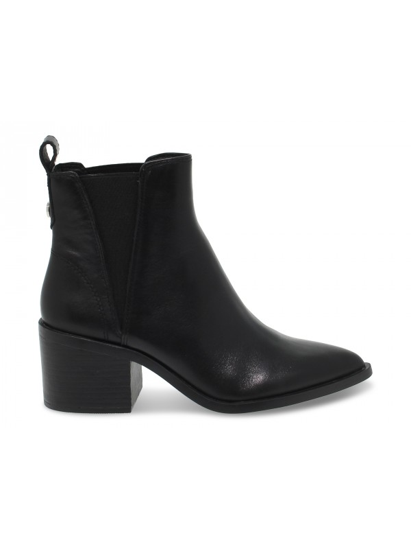 Polacco Steve Madden AUDIENCE BLACK LEATHER in pelle nero