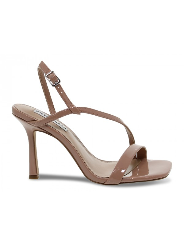 Sandalo con tacco Steve Madden JAYNELL NUDE PATENT in vernice carne