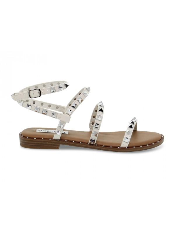 Sandalo basso Steve Madden TRAVEL WHITE in ecopelle bianco e argento