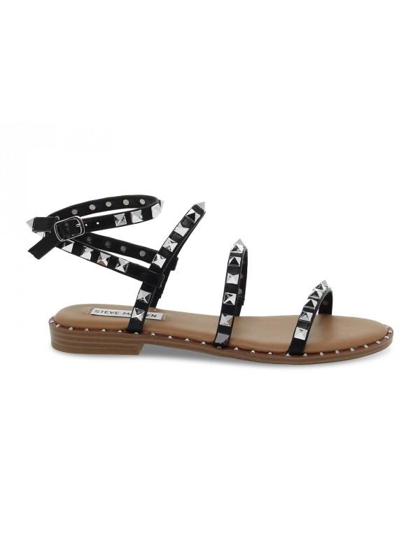 Sandalo basso Steve Madden TRAVEL BLACK in ecopelle nero e argento