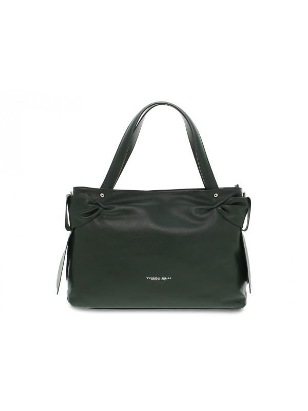 Shopping bag Tosca Blu BORSA GRANDE SOTTOBOSCO in pelle verde