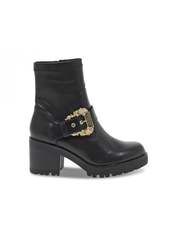 Polacco Versace Jeans Couture JEANS COUTURE MIA in pelle nero