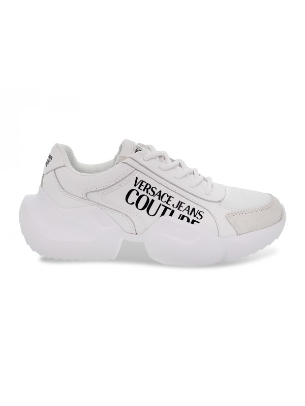 Sneakers Versace Jeans Couture JEANS COUTURE GRAVITY in pelle e camoscio bianco