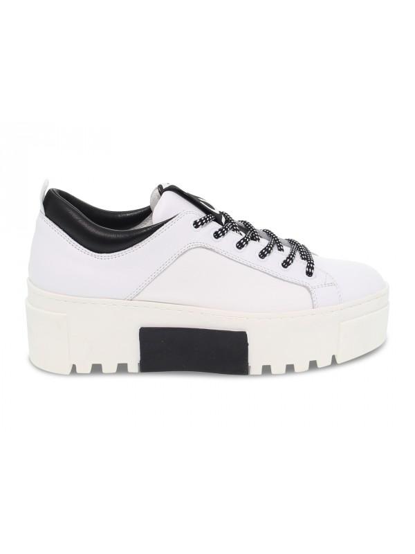 Sneakers Vic Matie in pelle e nylon bianco e nero