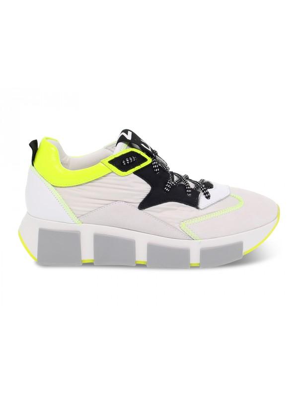 Sneakers Vic Matie in nylon e camoscio bianco e nero