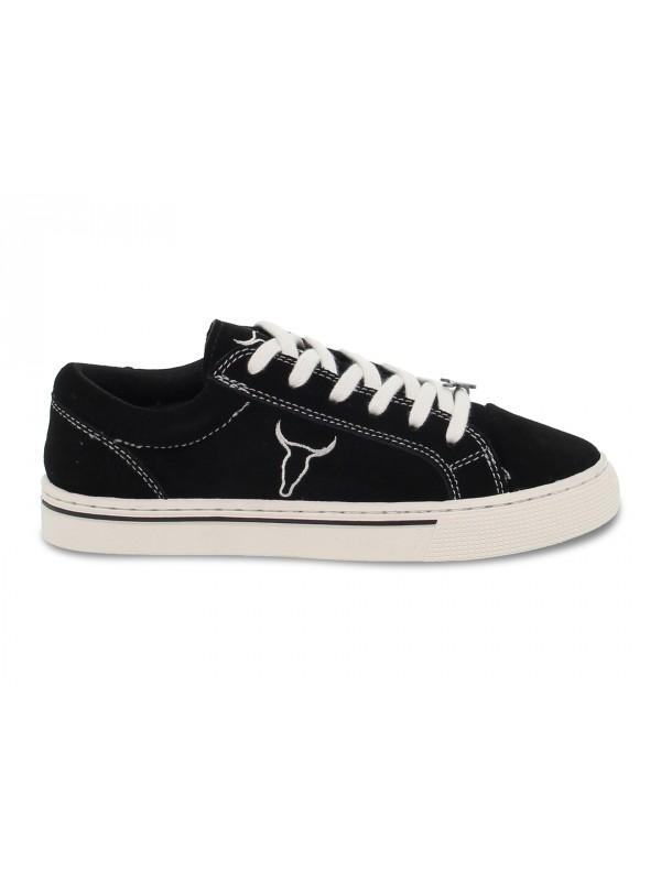 Sneakers Windsor Smith SWEET SUEDE BLACK in camoscio nero e bianco