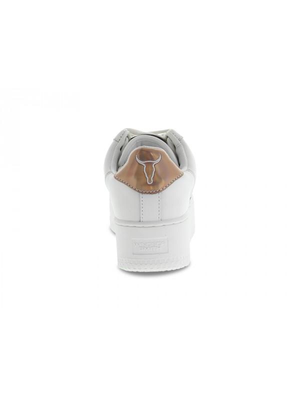 Sneakers Windsor Smith ROSY BO in pelle bianco oro Scarpe Donna