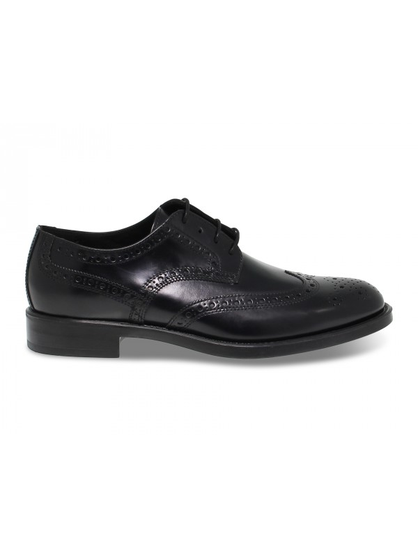 Lace-up shoes Antica Cuoieria in black brushed