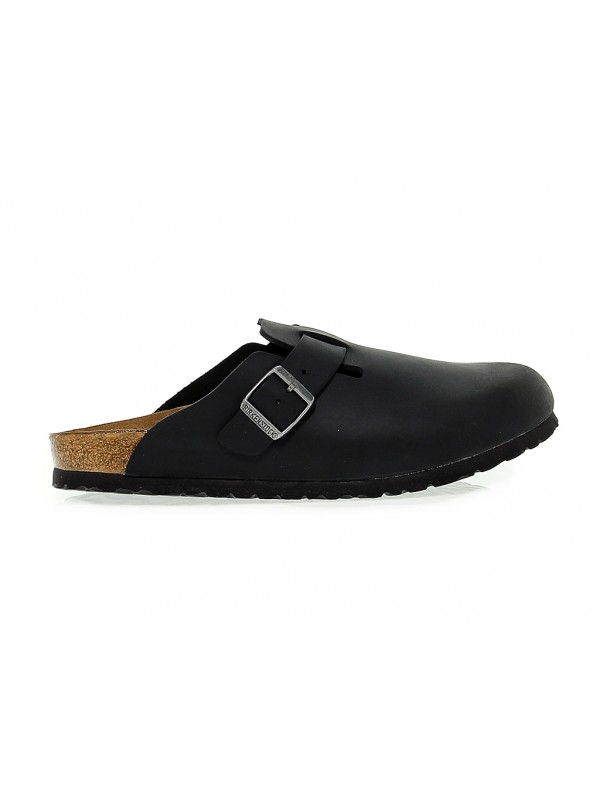 Flat sandal Birkenstock BOSTON in leather - New Collection Fall ... 9691af7fdac