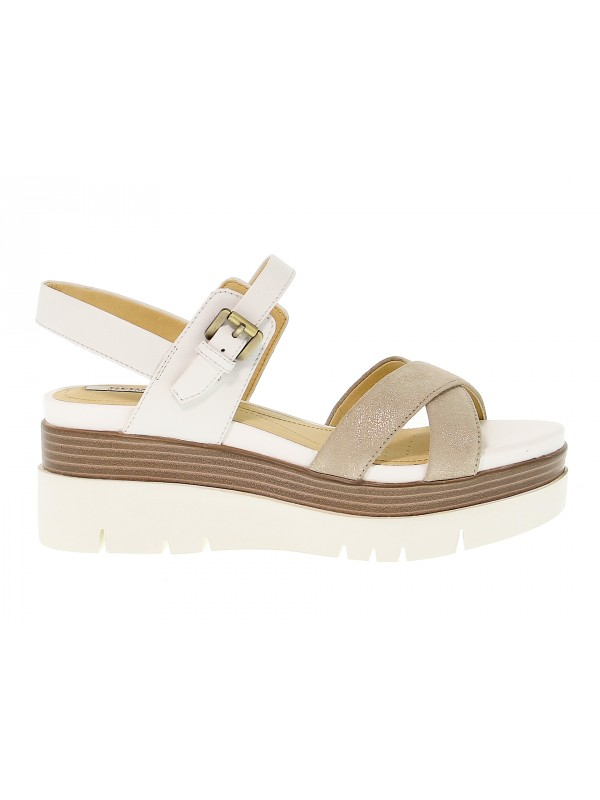 21d1bcc5aa6 Heeled sandal Geox RADWA in leather - New Collection Fall Winter ...