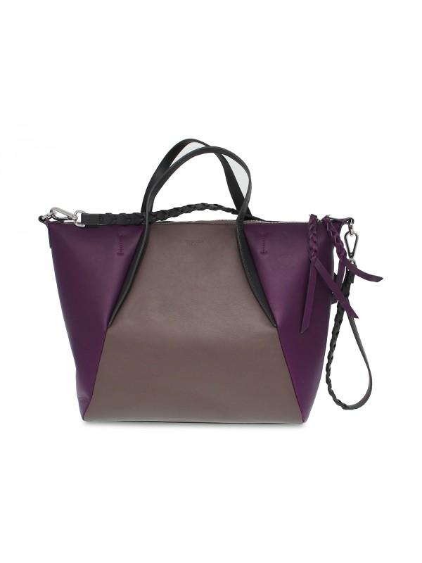 Tote bag Tosca Blu GIULIA SHOPPING BAG in grey leather