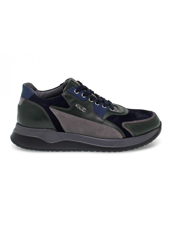 Sneakers Cesare Paciotti in blue suede leather
