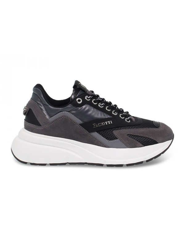 Sneakers Cesare Paciotti in grey suede leather