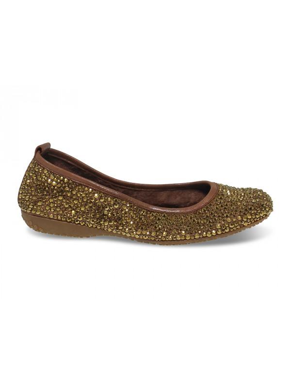 Flat shoe Alberto Venturini BALLERINA in bronze crystal