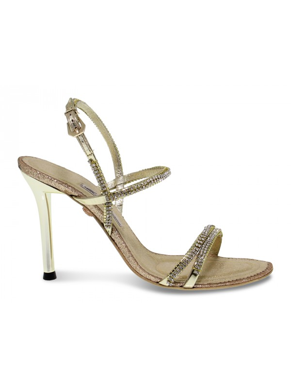 Heeled sandal Alberto Venturini GIOIELLO in gold crystal