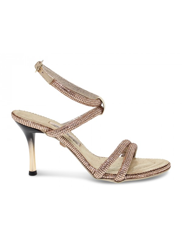 Heeled sandal Alberto Venturini GIOIELLO in copper crystal