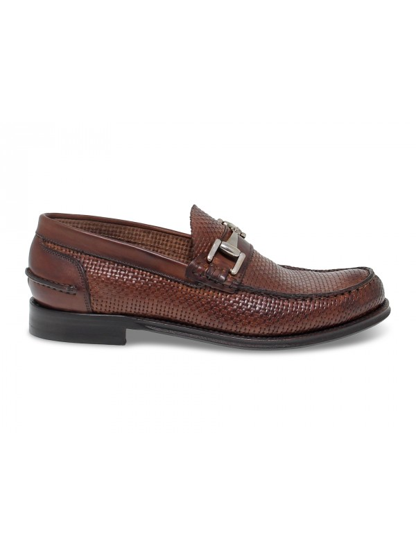 Loafer Artisti e Artigiani COLLEGE GUCCI in brown leather