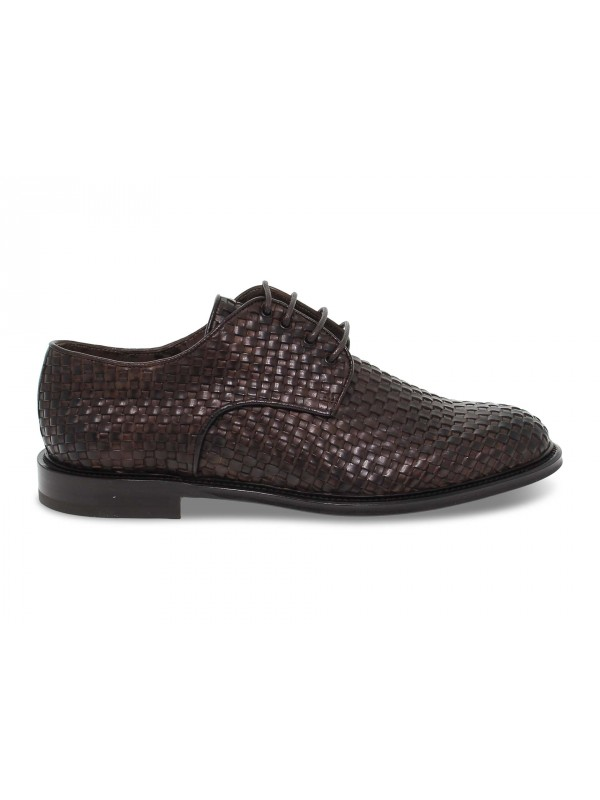 Lace-up shoes Artisti e Artigiani INTRECCIATO in brown leather