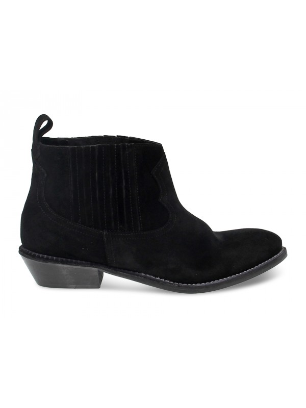 Ankle boot Ame in black suede leather
