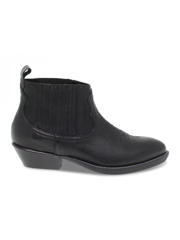Ankle boot Ame in black leather