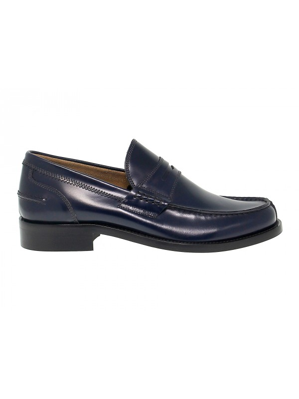 Loafer Antica Cuoieria COLLEGE in blue leather