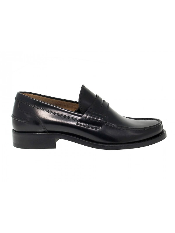 Loafer Antica Cuoieria COLLEGE in black leather