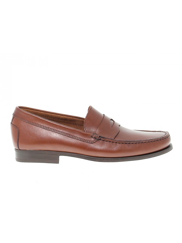 Loafer Antica Cuoieria in papaya leather