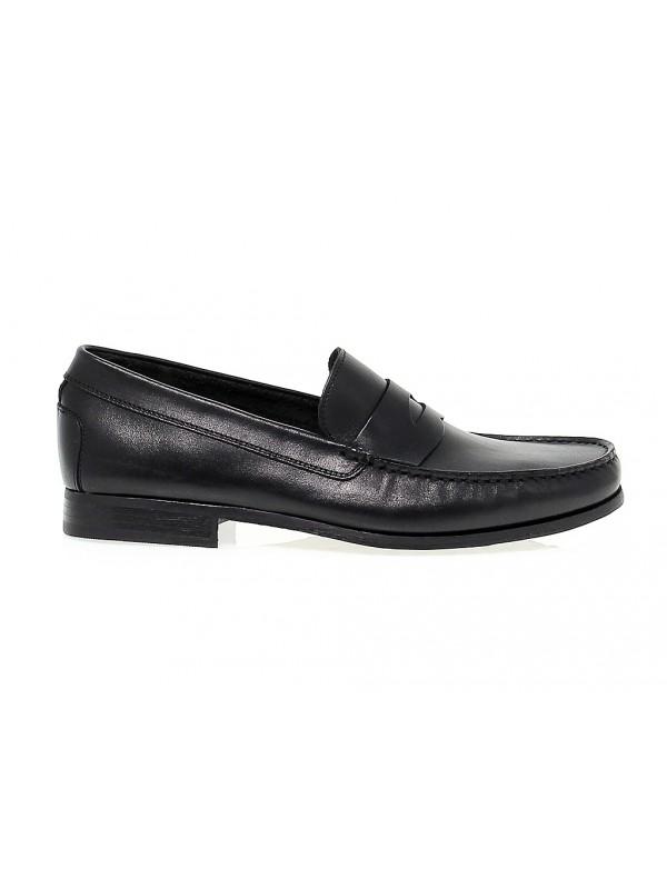Loafer Antica Cuoieria in black leather