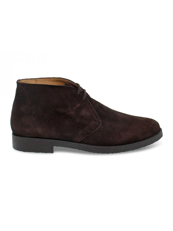 Low boot Antica Cuoieria in brown suede leather