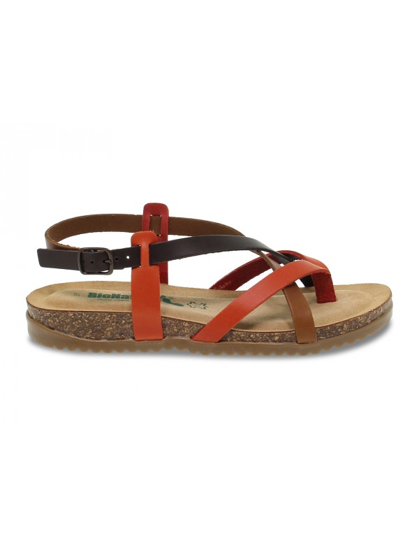Wedge Bionatura in brown leather