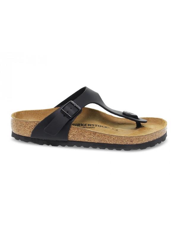 Flat sandals Birkenstock GIZEH in black birkoflor