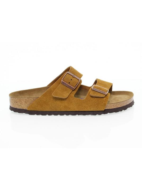 Sandal Birkenstock ARIZONA in ocher suede leather