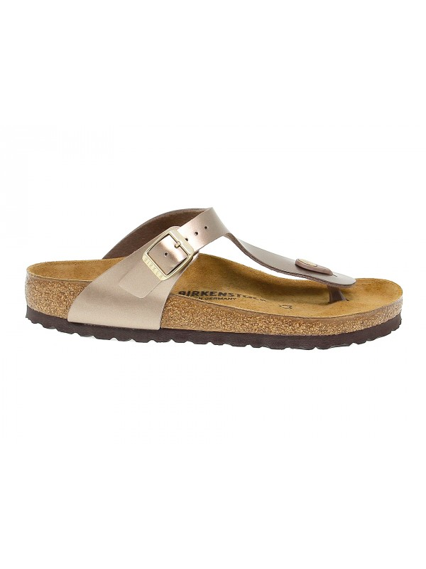 Flat sandals Birkenstock GIZEH in taupe birkoflor