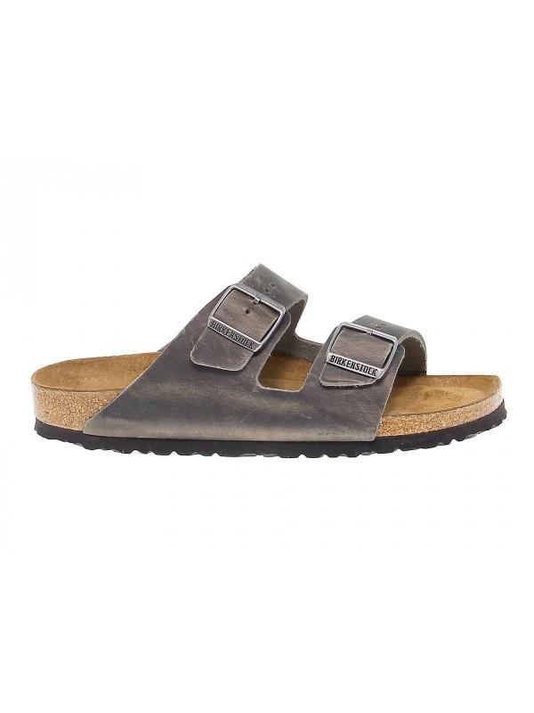 Sandal Birkenstock ARIZONA in grey leather