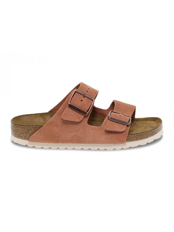 Flat sandals Birkenstock ARIZONA in rose suede leather