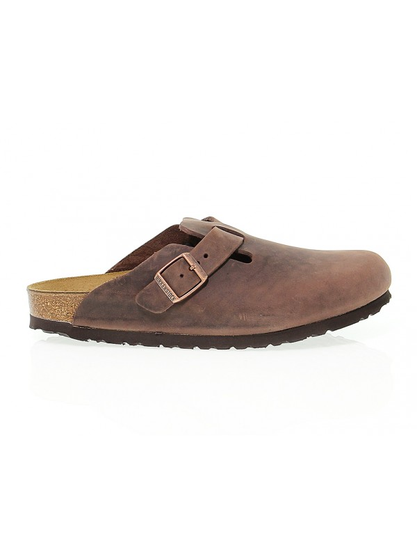 Flat sandals Birkenstock BOSTON in habana leather