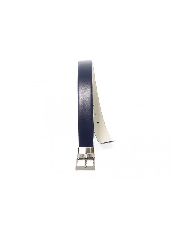 Belt Bikkembergs FORMAL METAL LOOP in leather